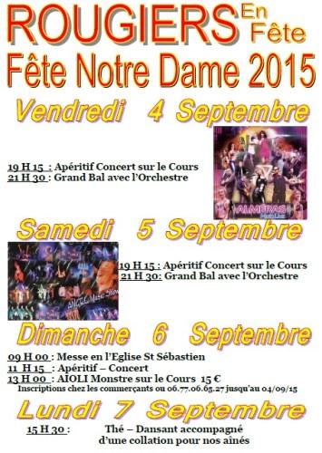 Fête de Notre Dame 2015