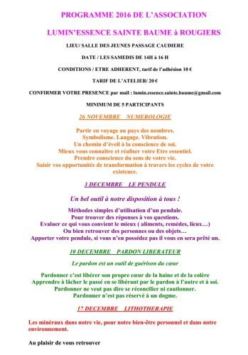 L'association  Lumin'Essence Sainte Baume