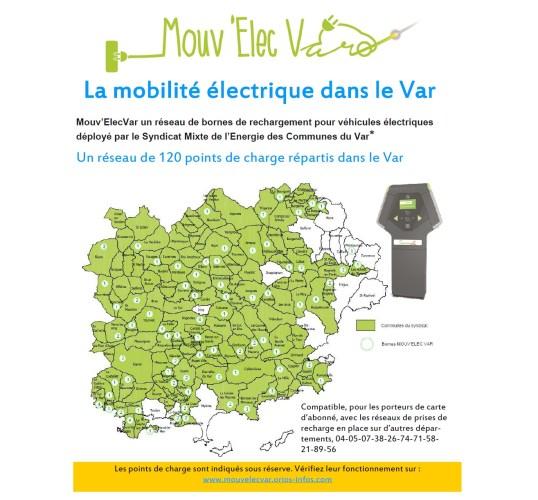 Le Mouv'Elec du Var - Bornes pour véhicules électriques