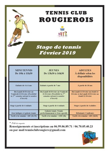 Stage Tennis Club Rougiérois
