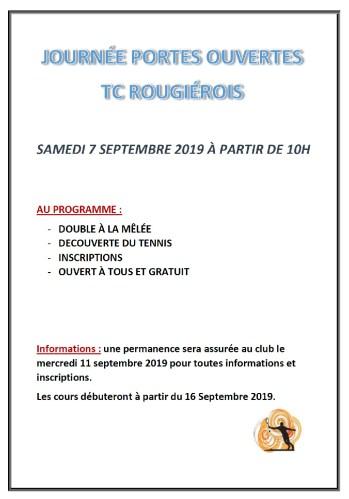 Portes Ouvertes du Tennis Club Rougiérois