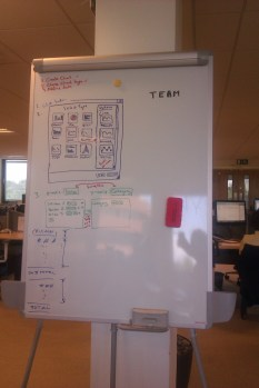 Gallery style selection Interface, marker on whiteboard