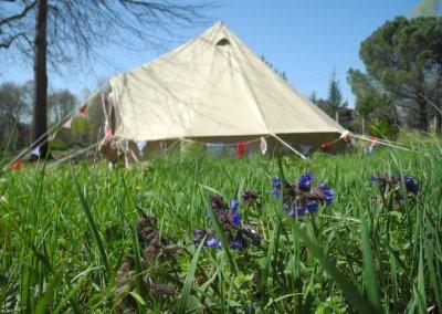 le tente Bell tent de 4m de diamètre