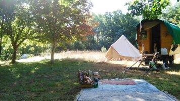 roulotte, tente, picnic