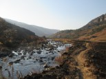 Path along the river in the Drakensberg