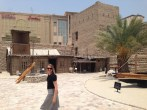 The outside section of the Dubai Museum - Jen bypassing it all, darting straight to the inside with A/C