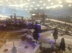 """Ski Dubai"" - literally a ski slope with other ""winter"" activities shown here INSIDE the Mall of the Emirates"