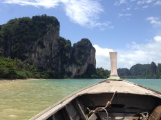 View on our long tail boat ride from Ao Nang into Railay