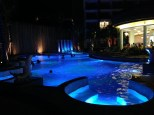 Hotel pool in Phuket by night