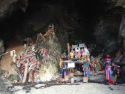 "In the ""womb"" of the Princess Cave, filled with ""ornaments"" to promise fertility"