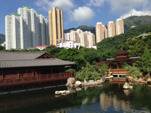 Cool gardens within Kowloon city