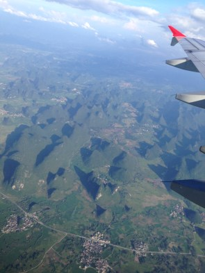The beautiful karst mountains of Guilin, as seen from above!