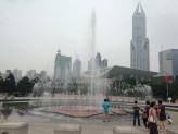 People's Park, fountain outside the Shanghai museum