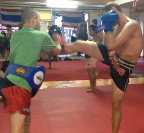Muay Thai session - wholly moly that was a workout. Super fun too.