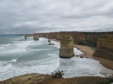 Twelve Apostles when we visited the next day on the way back