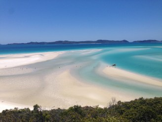 Whitehaven Beach with tide going out