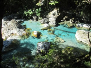Water along the river of Routeburn track was spectacular