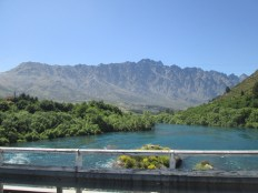 The Remarkables mountains on bridge in Allenstown