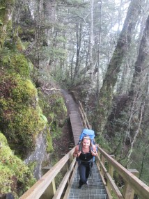 Superb trails, bridges, stairs along the Great Walks - Kepler Track no exception