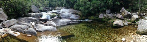 Cleopatra's Pool, really cool side hike from our camp spot on Abel Tasman