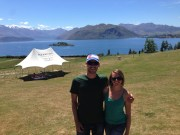 Sunday funday at vineyard in Wanaka - wine, food, music on the hill