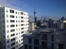 Last look at the Sky Tower in Auckland, this the view from our hostel
