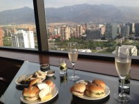 Free exec lounge food with a view, thanks to Accenture for Marriott points - a great way to recharge after many, many hostels