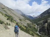 Hiking in the valley leading to Los Torres