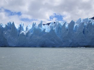 Perito Moreno glacier - beautiful formations, up close on boat