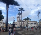 Main plaza in colonial old town, Salvador