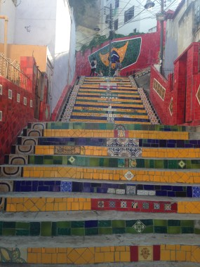 Selaron's stairs in Lapa, near Santa Teresa, cool art neighborhood in the hills of Rio