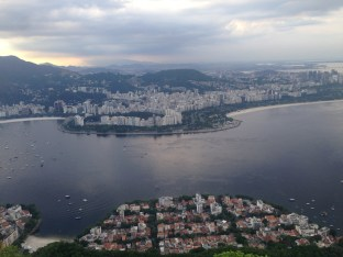 View from Sugarloaf, looking across the bay into the Flamengo neighborhood