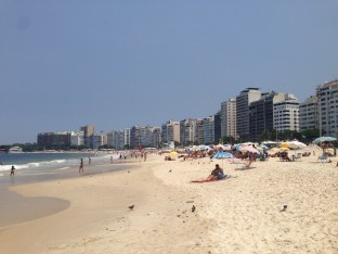Enjoying sun at Copacabana beach