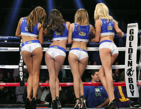 Image result for boxing ring girls
