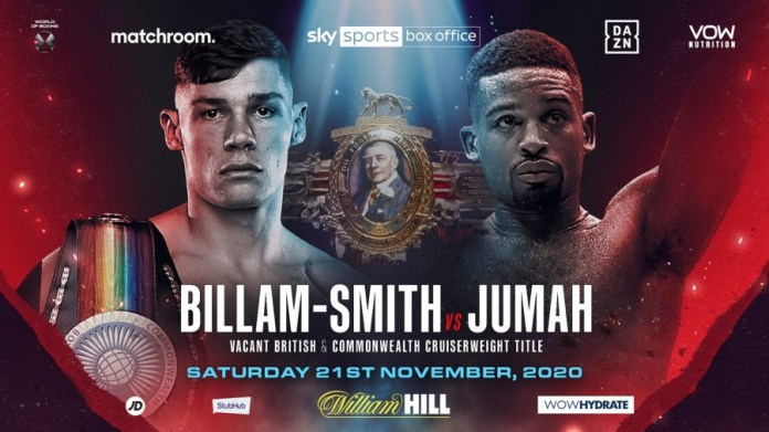 Whyte Povetkin Chief Support: Billam Smith-Jumah