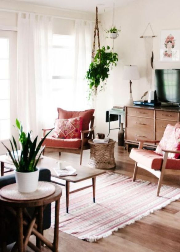 Colorful and spring living room designs (29)
