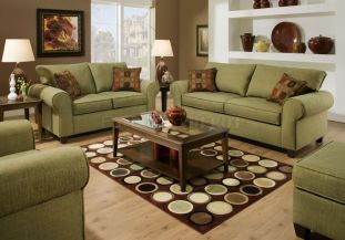Cool brown and blue living room designs (19)