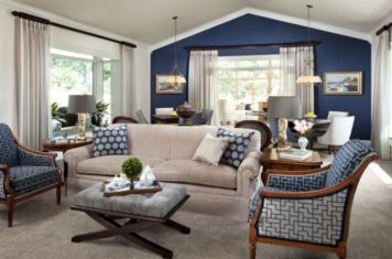 Cool brown and blue living room designs (20)