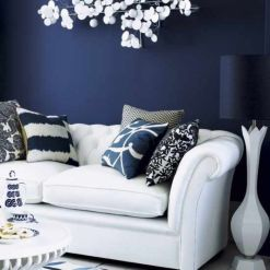 Cool brown and blue living room designs (4)
