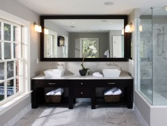 Cool ideas to use big mirrors in your bathroom (9)