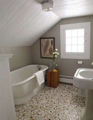 Cozy and relaxing farmhouse bathroom designs (17)