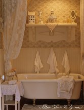 Cozy and relaxing farmhouse bathroom designs (4)