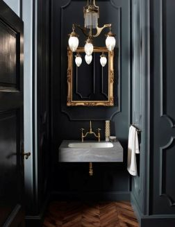 Dark moody bathroom designs that impress (25)