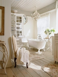Delicate feminine bathroom design ideas (6)