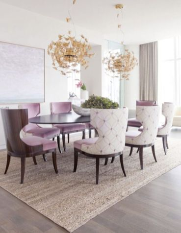 Elegant feminine dining room design ideas (10)