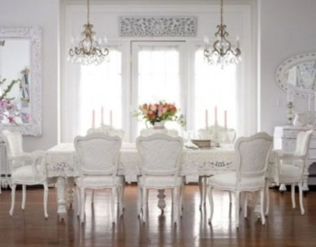 Elegant feminine dining room design ideas (15)