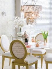 Elegant feminine dining room design ideas (18)