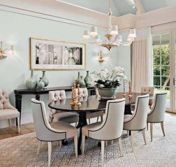 Elegant feminine dining room design ideas (19)
