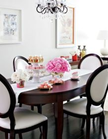 Elegant feminine dining room design ideas (29)