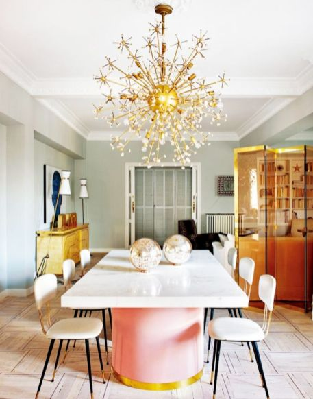 Elegant feminine dining room design ideas (9)